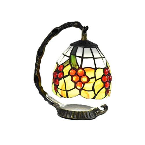 Wang Lining Tiffany Lampe De Table Chambre Simple Lampe De Chevet Salon  Étude Verre Veilleuse (Couleur : A)