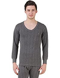 HAP MENS Kings Quilted Thermal : Round Neck Top (DARK GREY) / WINTER INNERS