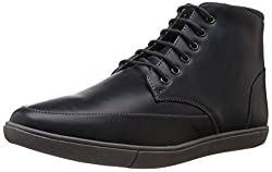 Bata Mens Subiv Black Boots - 8 UK/India (42 EU) (8012100)