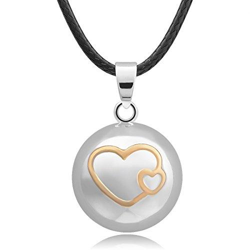 Herz im Herzanhänger mit Halskette Mama zum Geschenk Musikalische Glockenspiel Bälle