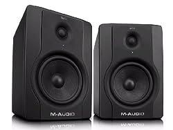 M-Audio BX8 D2 Aktiver Bi-Amping Studiomonitor und PC-sprecher (130-Watt, 8 Zoll, 2-Wege, 1 Paar)