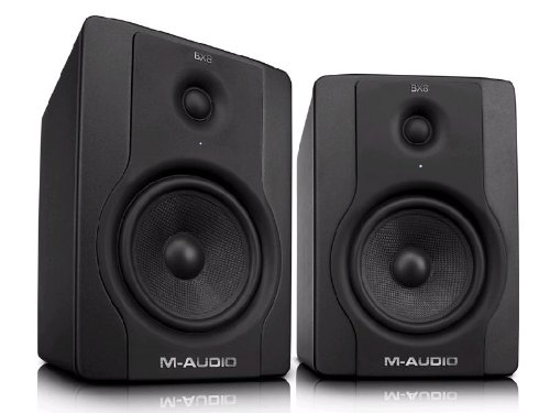 Preisvergleich Produktbild M-Audio BX8 D2 Aktiver Bi-Amping Studiomonitor und PC-sprecher (130-Watt, 8 Zoll, 2-Wege, 1 Paar)