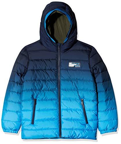 s.Oliver Jungen 62.909.51.2165 Jacke, Blau (Dark Blue AOP 59b3), 164 (Herstellergröße: L)