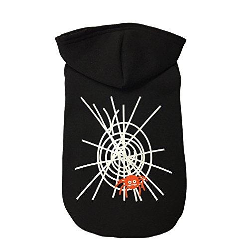 Haustier Kleidung Frühling Herbst Mantel mit Kapuze Hund Halloween Kleid Up durch Nieselregen Puppy Weiches Warmes Mode Baumwolle Jacke bedruckt (Clown Niedliche Outfits)