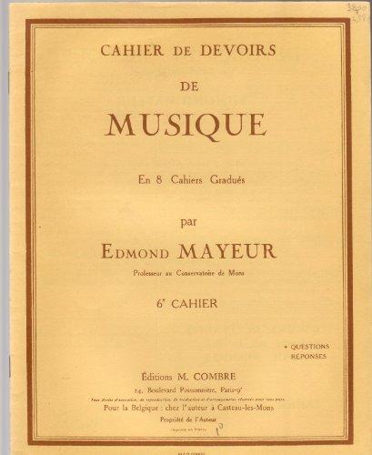 Cahier de devoirs de musique en 8 cahier...