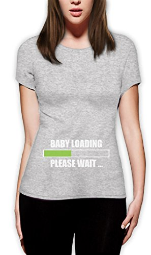 Baby Loading Please Wait Damen T-Shirt Grau
