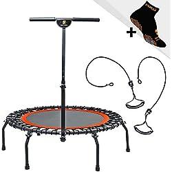 SPORT INNOV Trampoline Fitness - Mini Trampoline Elastique - Ø 112 cm - Poids Utilisateur Max 130 kgs