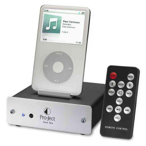 Pro-Ject Dock Box V Dockingstation für Apple iPod silber