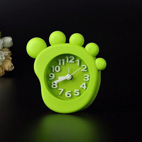 Preisvergleich Produktbild ZHGI Einfache,  kreative Office Mini Bonbon-bunten studentischen Schlafzimmer Wecker Der Wecker, grün