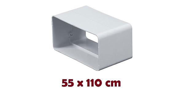 Verbindungsstück Flachkanal 55 x 110 mm 75 x 150 mm Verbinder Lüftungsrohr Rohr