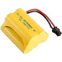 Gecoty Batería Recargable 6 V 700 mAh Ni-CD AA con Enchufe SM 2P para