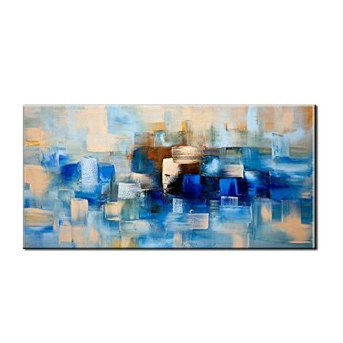 Pittura ad olio dipinta a mano,pura dipinte a mano la pittura ad olio di grandi dimensioni retrò astratto moderno minimalista quadrati blu la concezione artistica graffiti olio d'arte pittura murale d