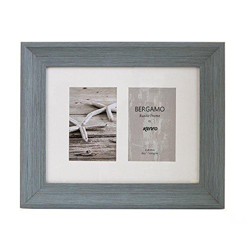 Kenro Bergamo Bilderrahmen, rustikal, Holzoptik, für Einzel- und mehrere Bilder, PS, 6x4 Double