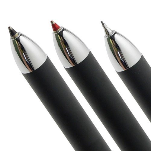 cross-tech3-satin-black-multi-function-pen-05-mm-lead-size-pencil-black-ink-refill-and-red-ink-refil