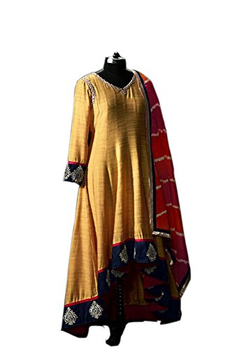 Ethnic Empire Yellow COLOR LATEST INDIAN DESIGNER ANARKALI SALWAR KAMEEZ DRESS for...