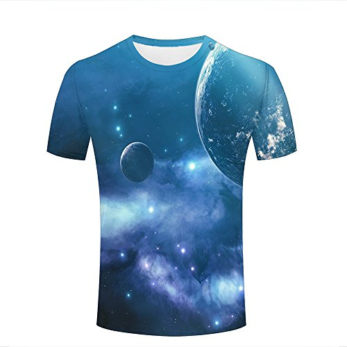 2f5eadfd9861de xijia shop para Hombre para Mujer T Shirt 3D Printed Graphic Shirt Cool  Planet Earth Space