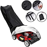Lawn Mower Cover, Tvird Walk Behind Lawn Mower Covers Waterproof Dustproof All-Weather Outdoor/Indoor Anti-UV Protector 210D Polyester with Draw String & Storage Bag(1.9m 0.6m x 1.1m / 76*26*43 inch)