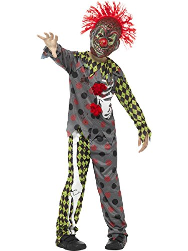 Smiffys Kinder Kostüm böser Horror Clown mit Maske Halloween ab 12 ()