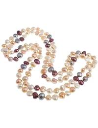 58d6ddf949e9 TreasureBay - Collar de perlas de agua dulce (9-10 mm