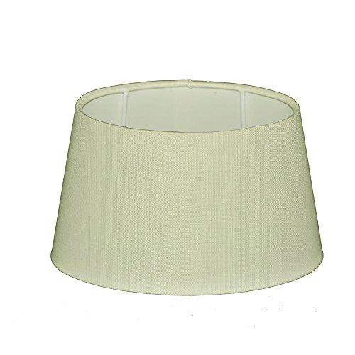 Lampenschirm für Tischleuchte in Oval Leinen Vera Creme TL 20-16-12 (Creme Lampenschirm Leinen)