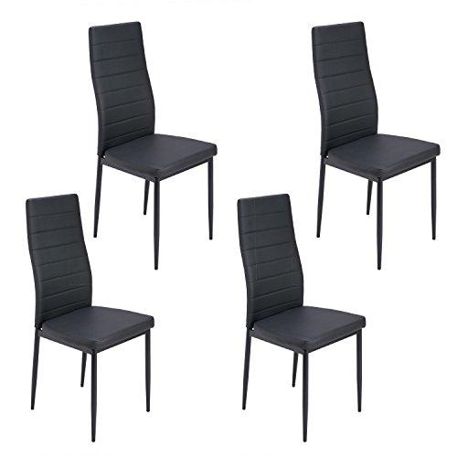 Sedie da pranzo Aingoo Set di 4 Pelle Elegante Design ...