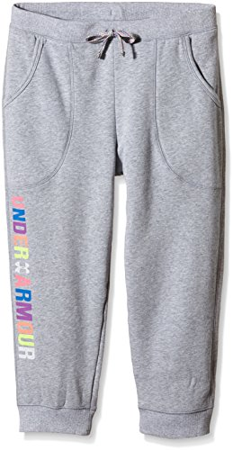 Fleece Trainingshose Mädchen (Under Armour Mädchen AllSeasonGear Favorite Fleece Trainingshose Hose, grau/Bunt, YLG-152)