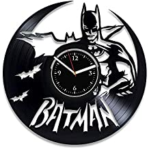 5ea0d2f07f13 LIOEN Bat Clock DC Comic Vinilo Reloj de Pared Batman Reloj de Pared cómics  Reloj Hecho