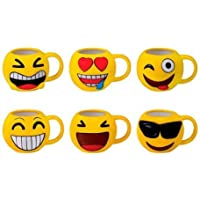 DISOK - Lote 48 Tazas Emoticonos - Regalos de Comuniones Niños/Niñas - Tazas Emojis