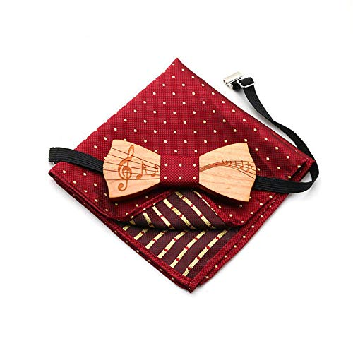 n für Kinder Hölzerne Fliege Anmerkungen Privates Echtes Holz Kleine Kinder Echte Hölzerne Krawatte Rote Bowtie Leistung Hölzerne Fliege Krawatten und Fliegen für ()