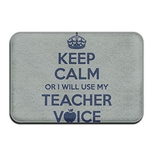Klotr Felpudos, Home Door Mat Keep Calm Teacher Voice
