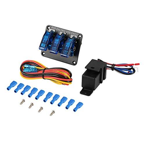 12V 20A interrupteur à bascule de course moteur d'allumage Relais Commutateurs avec LED universel de voiture camion de contrôle LED cache-culbuteurs