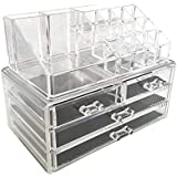 Design Bottom Layer Increase Fits Most Conceal Acrylic Makeup Organizer and Cosmetic Make Up Organizer Countertop Storage Box