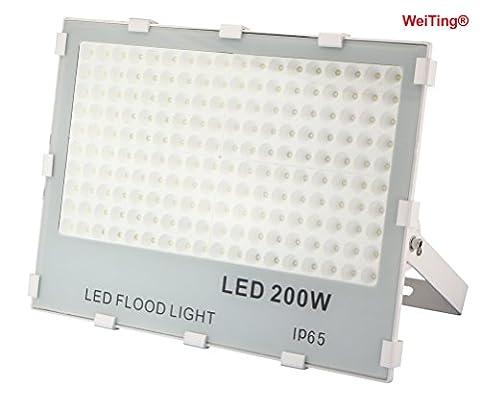 weiting nouvelle génération Projecteur à LED, noir, 30W/2700lm, de 50W 4500LM & # xff0C; 100W 8500lm & # xff0C; 150W-18000Lm & # xff0C; 13500lm & # xff0C; 200W Projecteur Spot à non dimmable Spot Projecteur à LED IP65extérieur étanche, Projecteur à LED, LED Luminaires d'extérieur, Klv-001, 200W, 5000k
