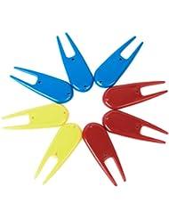 Dcolor 8 x accesorios de plastico herramienta divot golf