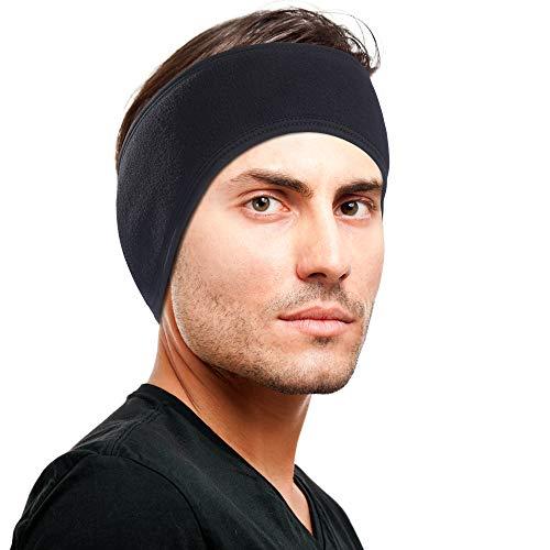 Oscenny Winter Stirnband Ohr wärmer Fleece Stirnbänder Getriebe Ohrenschützer Ohrbügel für Männer Frauen Pferdeschwanz kaltes Wetter Schnee Läufer