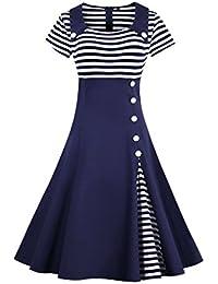 Valin M1528 Damen Rockabilly 50er Vintage Retro Kleid Partykleider Cocktailkleider