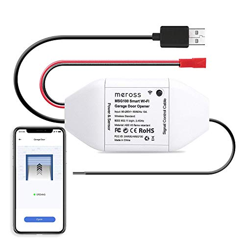 meross Smart WLAN Garagentoröffner, APP-Steuerung, Kompatibel mit