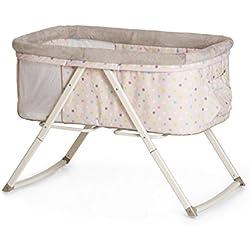 Hauck / Dreamer / lit cododo / berceau / lit parapluie / avec matelas et poche jouet / fonction de balancoire / pliable / Multi Dots Sand (Beige)