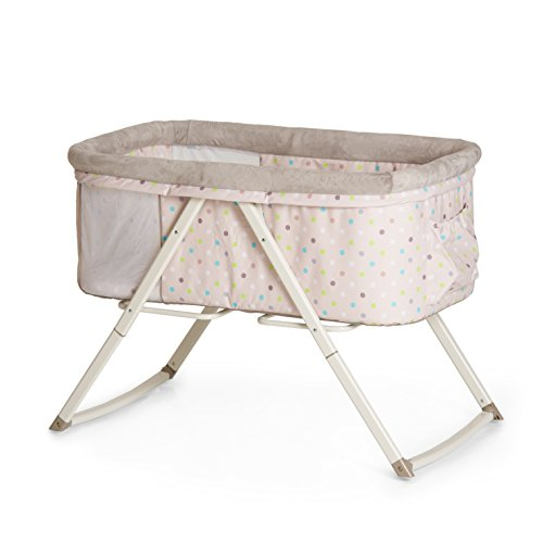 Hauck Dreamer Folding Bassinet, Side by Side sleeper, Moses Basket, Multi Dots Sand