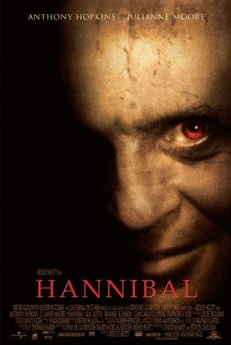 Hannibal (Anthony Hopkins) Original Einseitig Filmplakat - Original-Kinoplakat Poster (69Cm X 102Cm) (Kino-erinnerungsstücke)