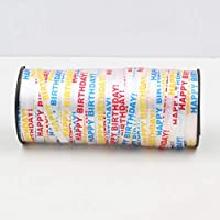 aixingwuzi Curling Ribbon Roll Poly Ribbon Silver Balloon Ribbons Ribbon for Festival, Florist, Craft and Gift Wrapping 5 mm 100 Yard for Home Decoration(None White HAPPY BIRTHDAY)