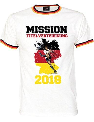 WM 2018 T-Shirt – Zum Feiern der Fußball Weltmeisterschaft - Trikot mit Motiv für Herren und Damen in Größe 3XL