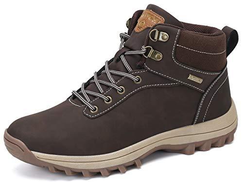 Pastaza Outdoor Sport Trekkingschuhe Herren Wanderschuhe Wasserdicht Rutschfest Freizeit Schuhe Männer Arbeitsschuhe Brown Gr.43