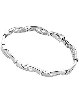 MATERIA Zirkonia Armband RINNSAL 18/20/23cm - 925 Silber Armband rhodiniert + Holzbox deutsche Fertigung #JA-2...