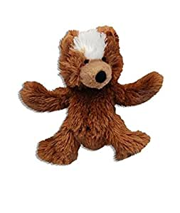 HDP Kong Low Stuffing with Squaker Dog Toy XSmall Bear