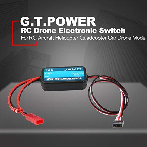 DFHJSXDFRGHXFGH-de DFHJS GTPOWER 0-40 V Fernbedienung Elektronische Schalter RC Teile für RC Flugzeug Hubschrauber Quadcopter Auto Drone Modell