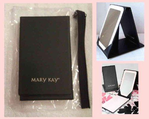 Mary Kay Beauty & Cosmetics Mary Kay New Black Foldable Travel Mirror With Stand & Vinyl Zippered Bag Case