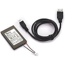 Tera 1800mAh 3.7V Bateria de Repuesto Bateria para Mando Control Remote Sony PS3 + Cable USB ( Negro)