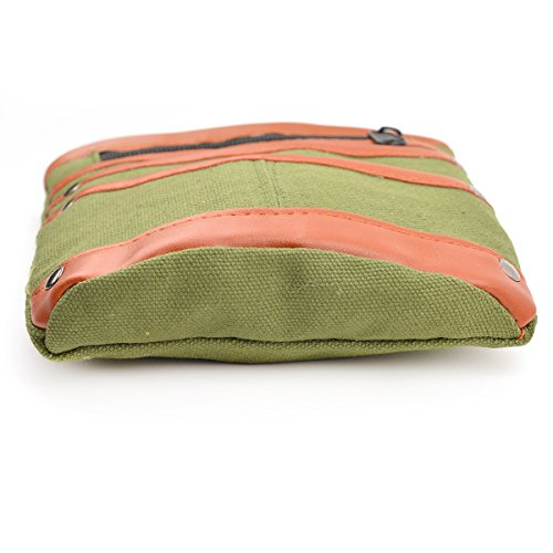 GSPStyle Herren Canvas Taille Tasche Multifunktional Tool Hängentasche Grün