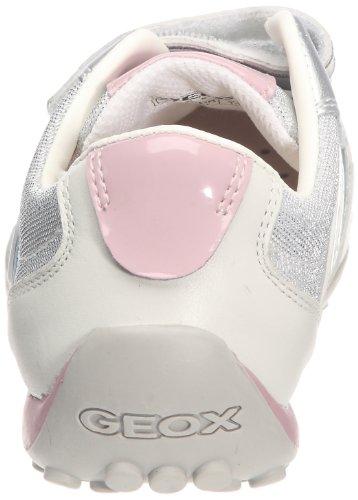 Geox Jr Snake Girl, Baskets mode fille Blanc/argent